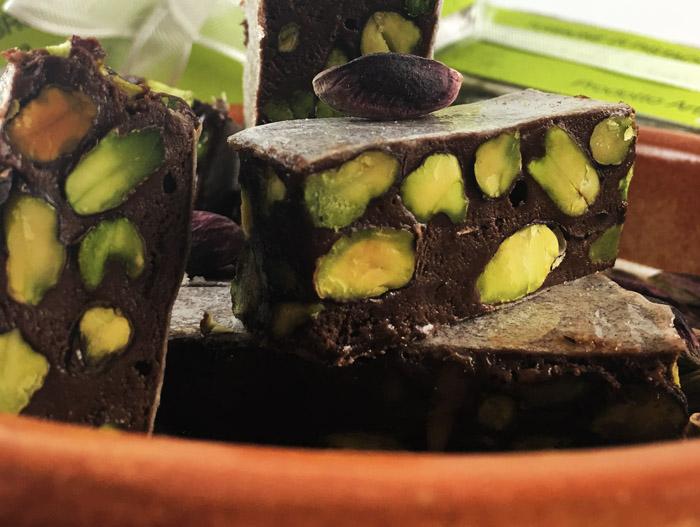 Torrone di Cioccolato, Arance e Pistacchi