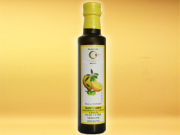 Lemon flavoured extra virgin olive oil