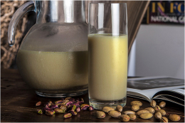 Pistachio milk dough